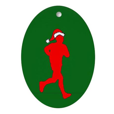 Christmas Runner Oval Ornament