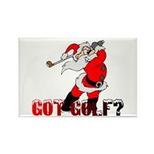 Golf Santa Rectangle Magnet