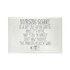 Nursing School like Birth Rectangle Magnet (10 pac
