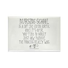 Nursing School like Birth Rectangle Magnet