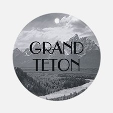 ABH Grand Teton Round Ornament