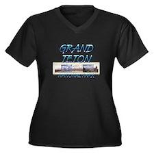 ABH Grand Te Women's Plus Size V-Neck Dark T-Shirt