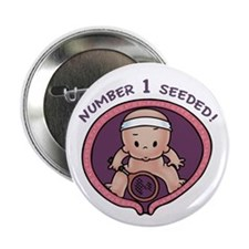 """#1 Seeded Tennis 2.25"""" Button"""