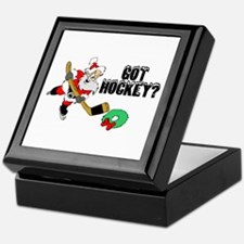 Hockey Santa Keepsake Box
