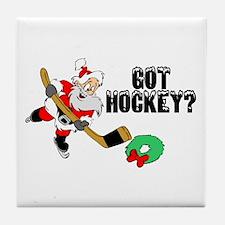 Hockey Santa Tile Coaster
