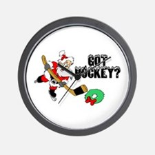Hockey Santa Wall Clock