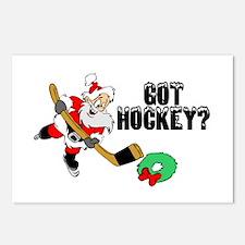 Hockey Santa Postcards (Package of 8)
