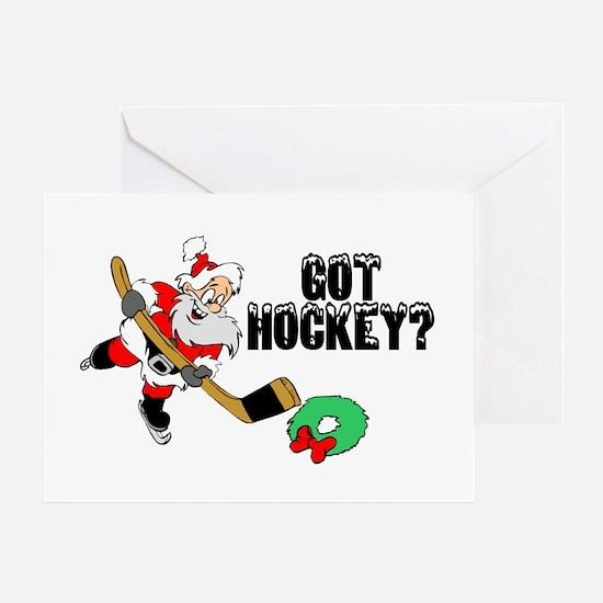 Hockey Santa Greeting Card