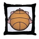 Basketbaby Throw Pillow