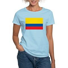 Colombia Flag Women's Light T-Shirt