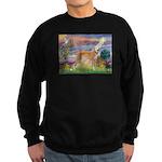 Cloud Angel & Greyound Sweatshirt (dark)