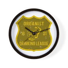 Organist Drinking League Wall Clock