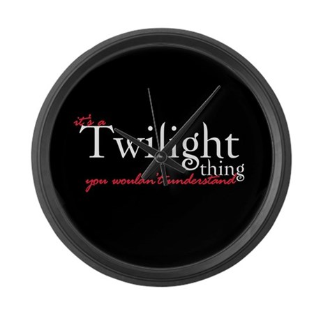 Twilight Thing Large Wall Clock