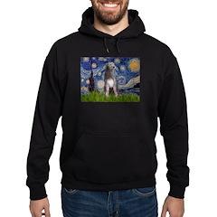 Starry/Irish Wolfhound Hoodie (dark)