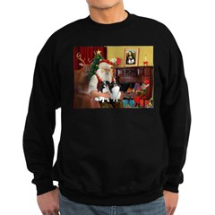 Santa's 2 Japanese Chins Sweatshirt