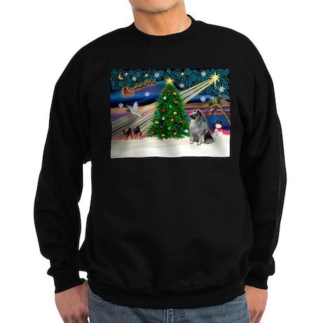 Xmas Magic & Keeshond Sweatshirt (dark)