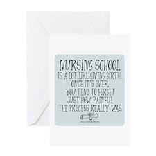 Nursing School like Birth II Greeting Card