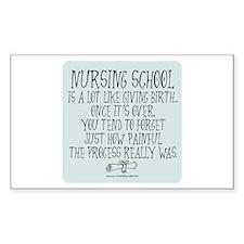 Nursing School like Birth II Rectangle Decal