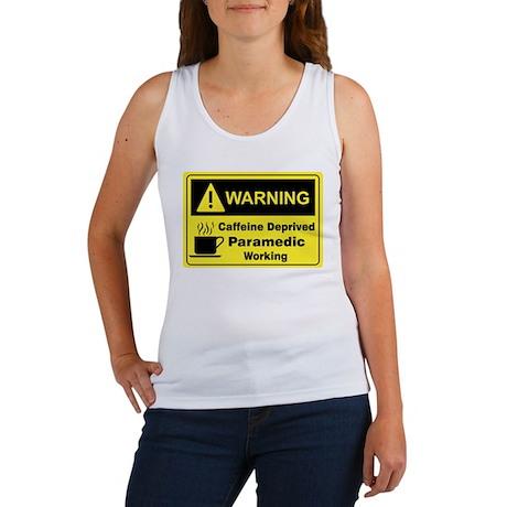 Caffeine Warning Paramedic Women's Tank Top