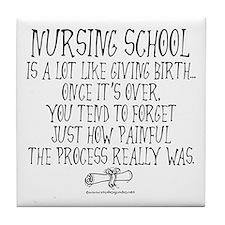 Nursing School like Birth Tile Coaster