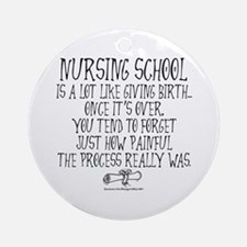 Nursing School like Birth Ornament (Round)