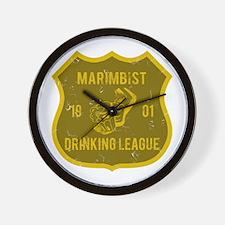 Marimbist Drinking League Wall Clock