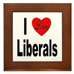 I Love Liberals Framed Tile