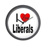 I Love Liberals Wall Clock