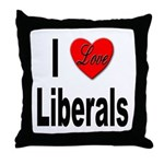 I Love Liberals Throw Pillow