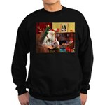 Santa's 2 Pekingese Sweatshirt (dark)