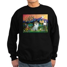 Fantasy Land /Pomeranian(s&w) Sweatshirt