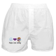Peace Love Surfing Boxer Shorts