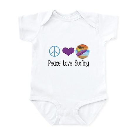 Peace Love Surfing Infant Bodysuit