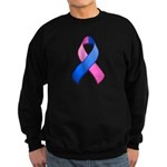 Blue and Pink Awareness Ribbon Sweatshirt (dark)