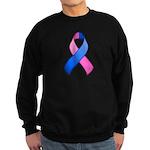 Blue and Pink Awareness Ribbon Sweatshirt (dark)