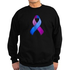 Blue and Purple Awareness Ribbon Sweatshirt