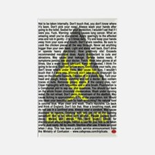 Biohazard Warning Rectangle Magnet