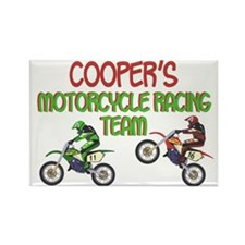 Cooper's Motorcycle Racing Rectangle Magnet