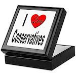 I Love Conservatives Keepsake Box