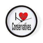 I Love Conservatives Wall Clock