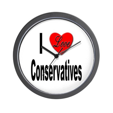 I Love Conservatives Wall Clock