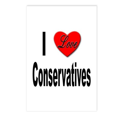 I Love Conservatives Postcards (Package of 8)