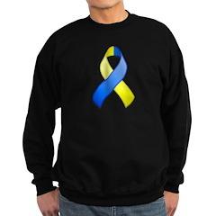Blue and Yellow Awareness Ribbon Sweatshirt (dark)