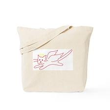 Black and White Angel Kitty Tote Bag