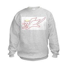 White Angel Kitty Sweatshirt