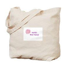 WORLD'S BEST NANNY Pink Tote Bag