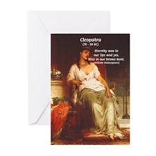 Female Pharoah Cleopatra Greeting Cards (Package o