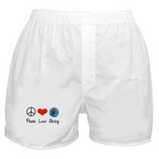 Peace Love Skiing Boxer Shorts