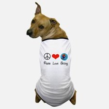 Peace Love Skiing Dog T-Shirt