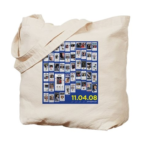 Obama Victory Newspapers Tote Bag